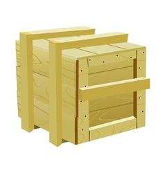 Wooden box vector