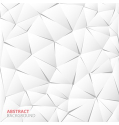 Abstract white paper triangle background vector
