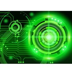 Techno cycle vector