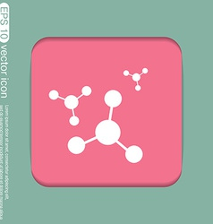 Atom molecule symbol icon of physics or chemistry vector