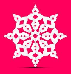 Origami paper cut star - ornament on retro pink vector