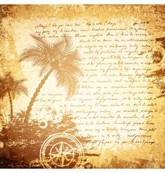 Vintage travel letter vector