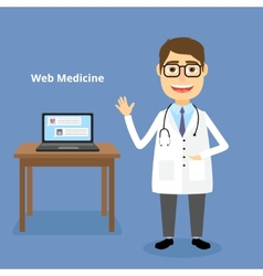 Web medicine concept vector