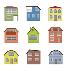 Colourful home icon collection vector
