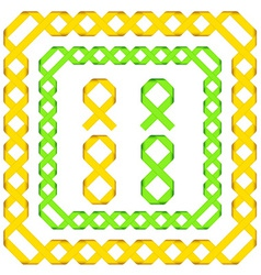 Ribbon frames vector