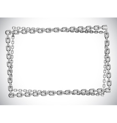 Metal chain frame vector