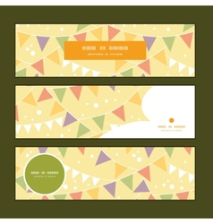 Party decorations bunting horizontal banners set vector