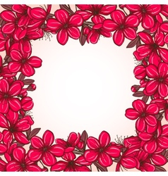 Plum blossom frame vector