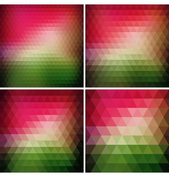 Abstract retro triangle background vector