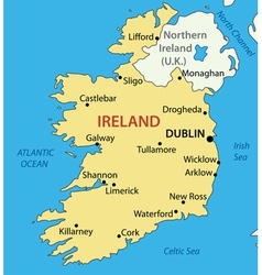 Republic of ireland - map vector