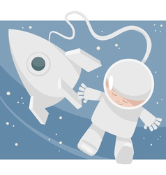 Little spaceman cartoon vector