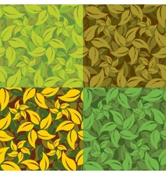 Abstract set of leaf patterns vector