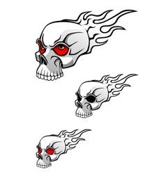 Danger evil skull vector