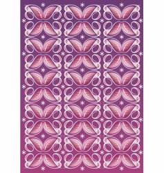 Floral textile pattern vector