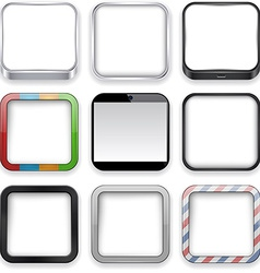 Blank app icons vector