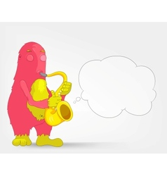 Funny monster saxophonist vector