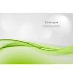 Abstract shiny green waves vector