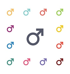 Male flat icons set vector