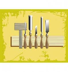 Woodcarving tools vector