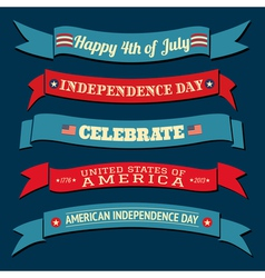 Independence day banners collection vector