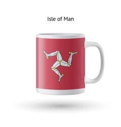 Isle of man flag souvenir mug on white background vector