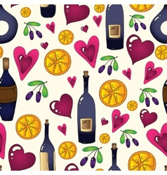 Wine seamless background in  used clipping mask vector
