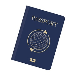 Blue passport vector