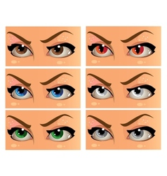 Color and demonic women look in the face vector
