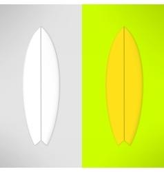 Surfboard in realistic design vector