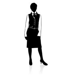 Businesswoman silhouette vector