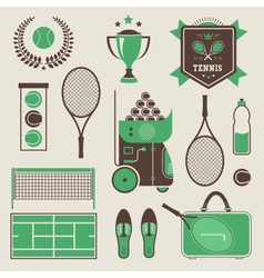Tennis icons vector