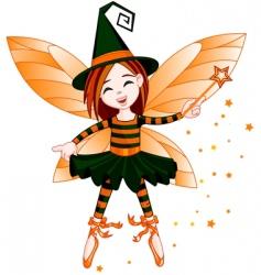 Halloween cute fairy vector