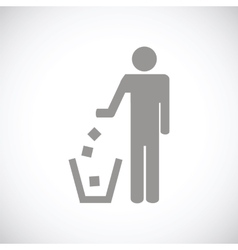 Trash black icon vector