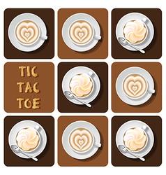 Tic-tac-toe of latte vector
