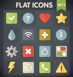 Universal flat icons for applications set 3 vector