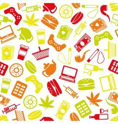 Addiction seamless pattern vector