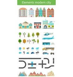 Elements of the modern city and nature vector