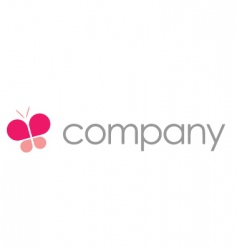 Butterfly logo  beauty salon vector