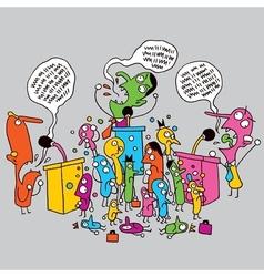 Politics cartoon vector