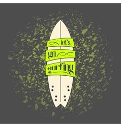 Surfboard in dark cartoon graffiti design vector