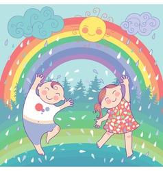 Happy children vector