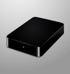 Realistic of an external hard disc vector