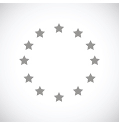 European union black icon vector