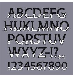 Halloween bone font vector