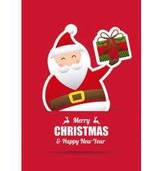 Merry christmas design vector