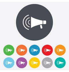 Megaphone sign icon loudspeaker strike symbol vector
