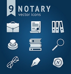 Notary icons vector