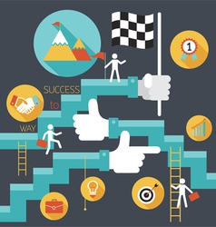 Business concept stairway to success vector