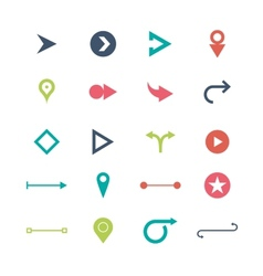 Arrow sign icon set simple circle shape internet vector