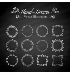 Circle floral borders vector